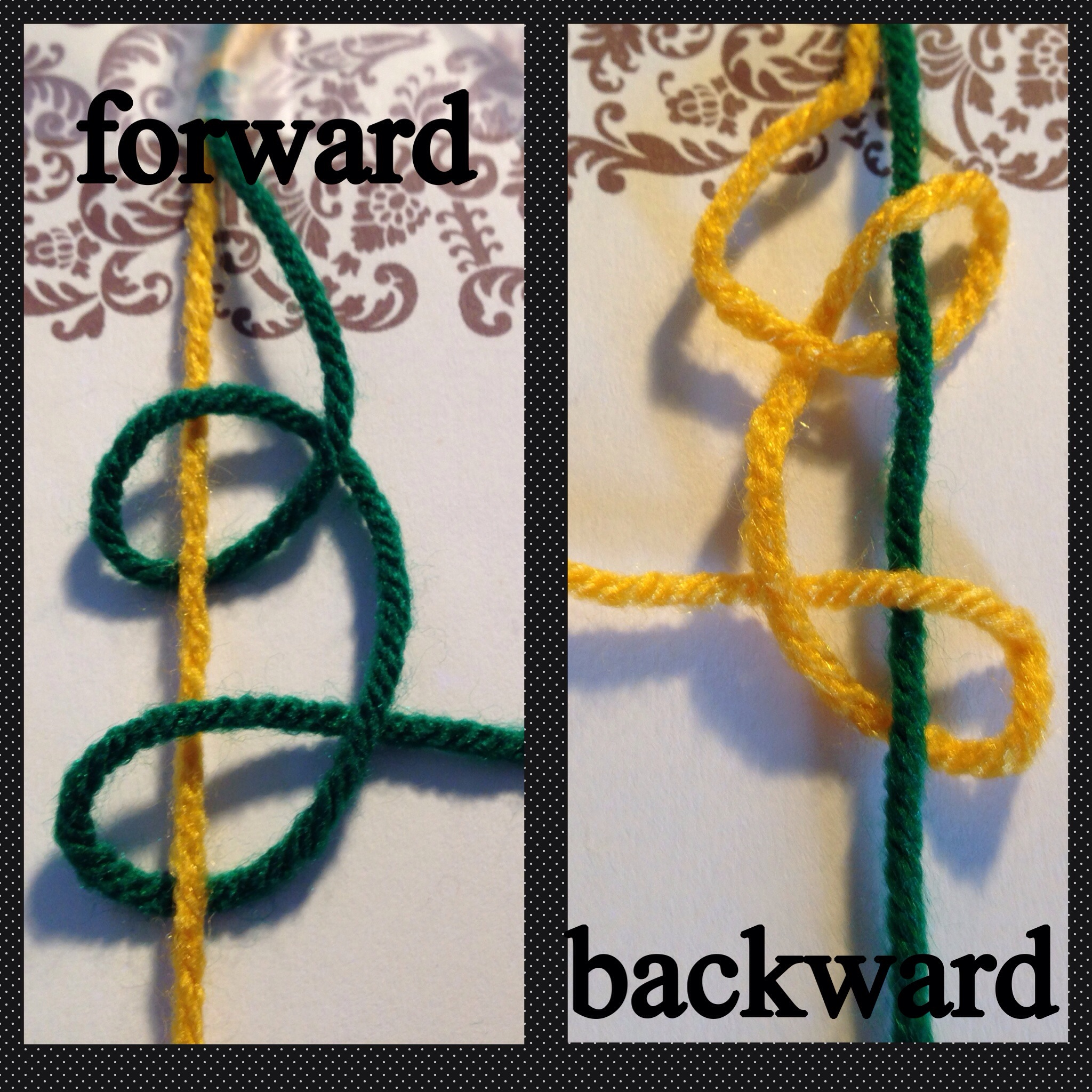 How to tie a forward backward knot danodillydally how to tie a forward backward knot ccuart Image collections